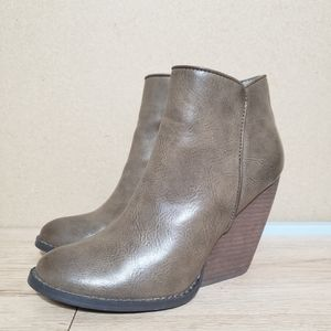 Very Volatile Whitby Wedge Faux Leather Booties